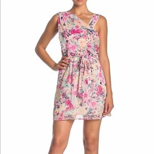 NWT LoveSquared Floral draped sleeveless Dress XL